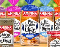 Design de Embalagem para Pães e Bolos Aminna