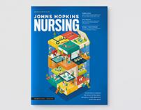 Editorial illustrations for John Hopkins Nursing