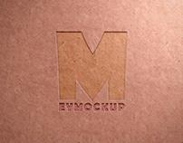 Free Debossed Logo Recycled Paper Texture Mockup