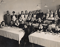 Vintage Photo Restoration - Housekeeping class, 1938
