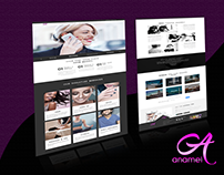 Anamel App Landing Page Design and development in HTML
