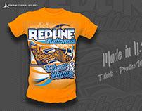 Redline Nationals Cheer Event Tshirt Design
