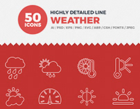Vector Icons Weather Set