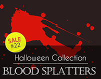 Sale#22: Halloween Collection - Blood Splatters