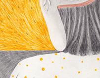 'Os pesares' - personal project - colour pencil