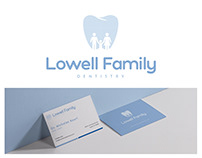 LOWELL FAMILY DENTISTRY LOGO & BUSINESS CARD