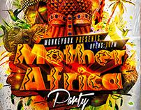 Flyer Mother Africa Party Konnekt