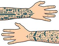 work tattoo icons