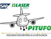 "Campaña ""Pitufo"" Laser Airlines Venezuela"