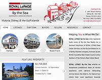 Website Design for Royal Lepage by the Sea.  (2012)