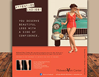 Midwest Vein Center - Vintage Ad Campaign