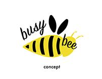 Logo for a brand. BusyBee Concept