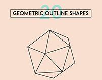 Geometric Shape Outline Illustrations & Vectors
