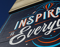 """Inspiration is Everywhere"" Mural"