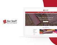 der-Stoff - online shop re-design