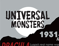 Universal Monsters accordion fold poster