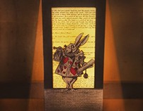 Alice in Wonderland Handmade Lamp