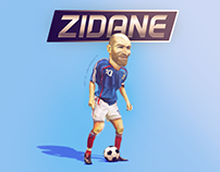 Zidane Caricature art