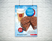 Winter campaign for Inmedio Cafe restaurant chain