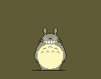 Pixel Art / 8-bit - Ghibli Studio Totoro