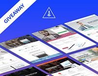 GIVEAWAY: 8 LeadGen Landing Page PSD Templates - FREE