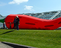 Giant inflatable chilli for Kew Gardens Spice Festival