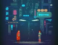 Blade Runner pixel art