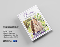 Senior Photography Magazine Template for Photographer