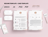 Pack Crystal Resume and Card Template /Free Coverletter