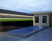 Graphic design for a private swimming pool