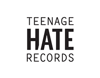 Teenage Hate Records - logo & vinyl cover design