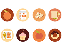School Lunch Icons