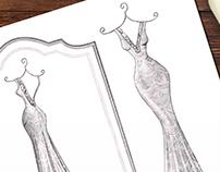 'Martina' - Wedding Dress Illustration