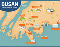 Simple tour map - Busan
