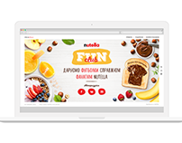 Digital Campaign for Nutella. Website