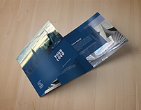Modern Squares Trifold brochure