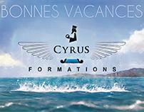 Illustration Bonnes Vacances 2016 pour Cyrus Formations