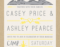 Wedding Invitation Set: Ashley