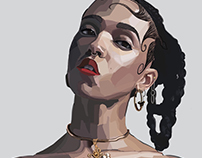 FKA Twigs | vector illustration