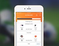 UI design for sport mobile app