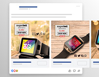 Magnetind.com Smartwatch and Charging Dock Ads Design