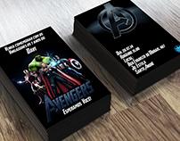 Convite Aniversário - Avengers