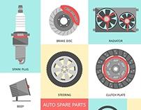 Auto Spare Parts Icons
