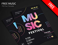Free Music Flyer Template in PSD + AI