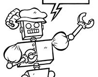 """""""Renton the Robot"""" Page 4 Inks"""