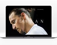 Zlatan - Concept Website