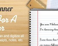 Cam Scanner App Landing Page Design
