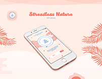 Stressless Nature - app design
