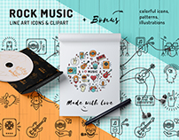 Music concept: icons, elements of corporate identity
