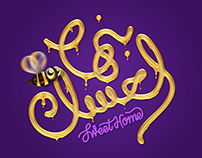 بنها العسل - Sweet Home - Arabic lettering
